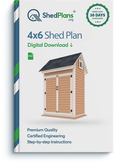 4x6 storage shed plan