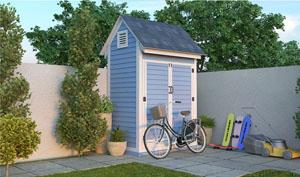 4x6 gable bike shed plans