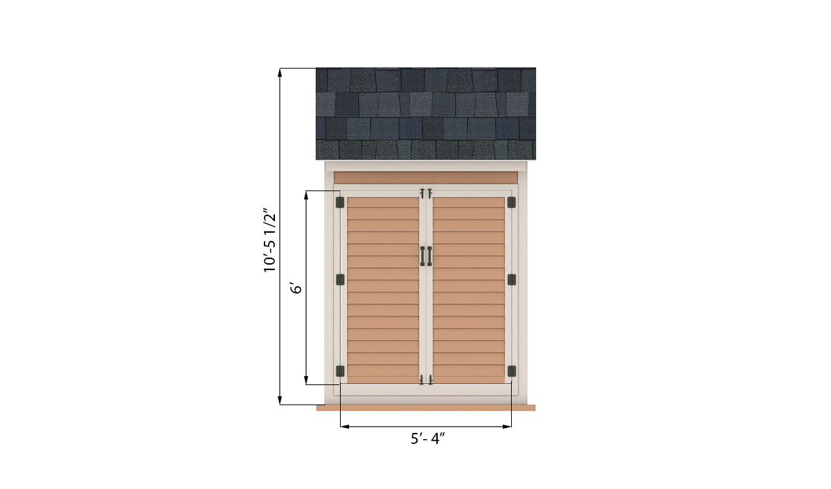 4x6 storage shed front preview