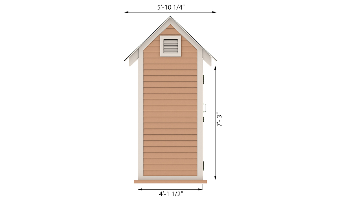 4x6 storage shed side preview