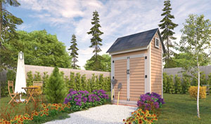 4x6 gable storage shed plans
