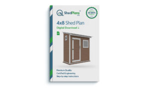 4x8 storage shed plan