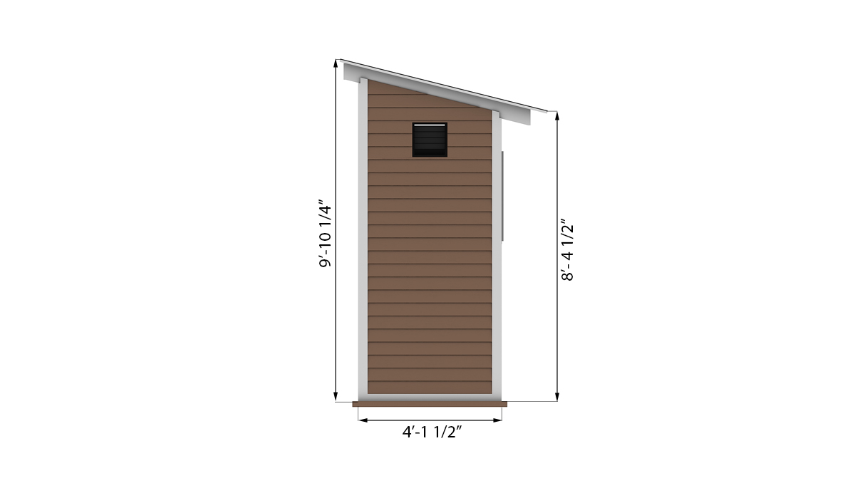 4x8 storage shed side preview