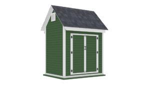 6x8 bike shed