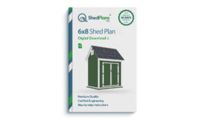 6x8 bike shed plan