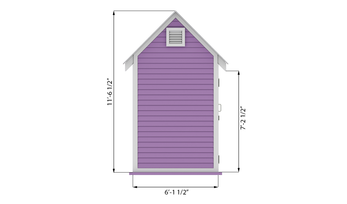 6x8 storage shed side preview