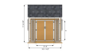 8x10 garden shed front side preview