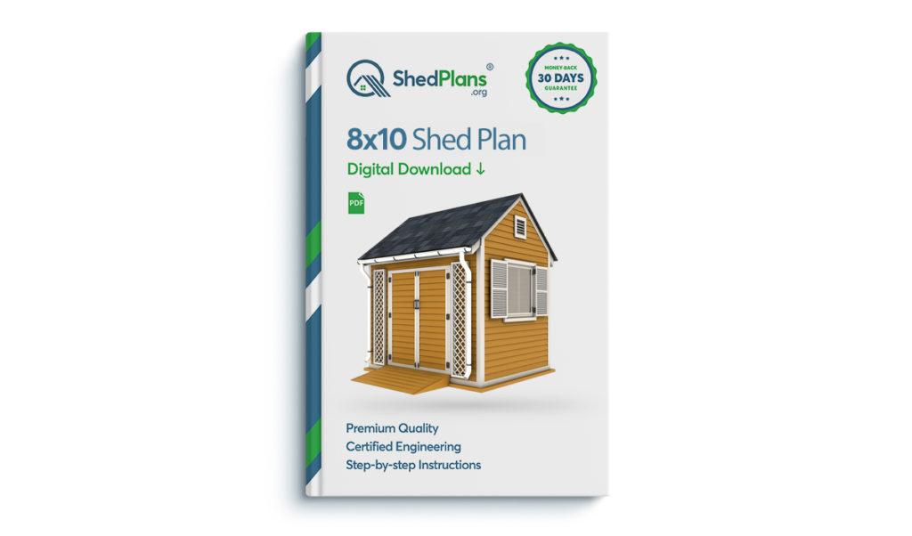 8x10 garden shed plan