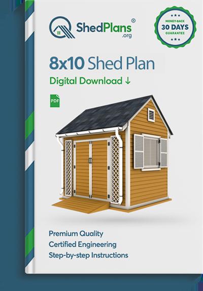 8x10 Garden Shed Plan - Shedplans.org
