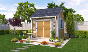 8x10 gable garden shed plans