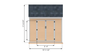 8x10 storage shed front side preview