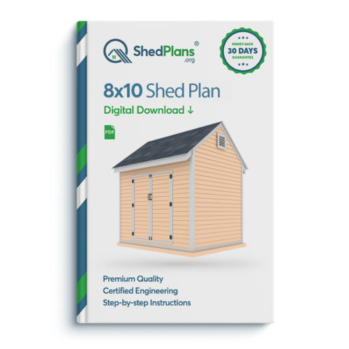 8x10 storage shed plan