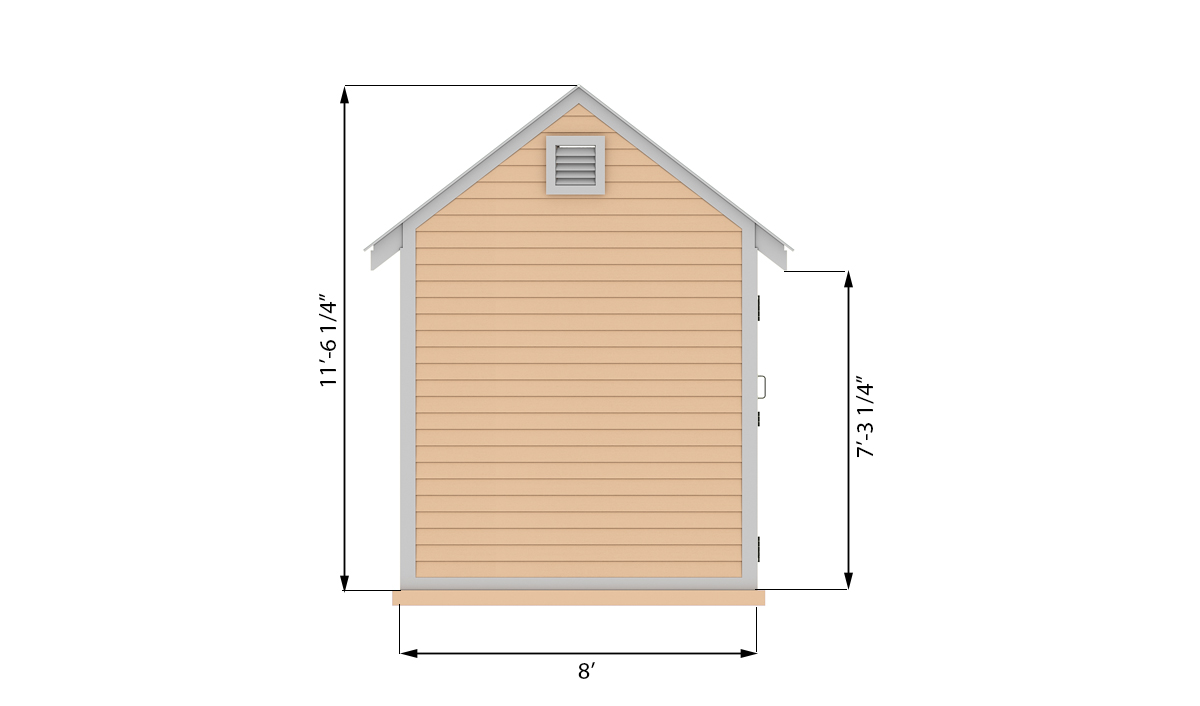 8x10 storage shed side preview