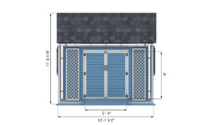 8x12 garden shed front side preview