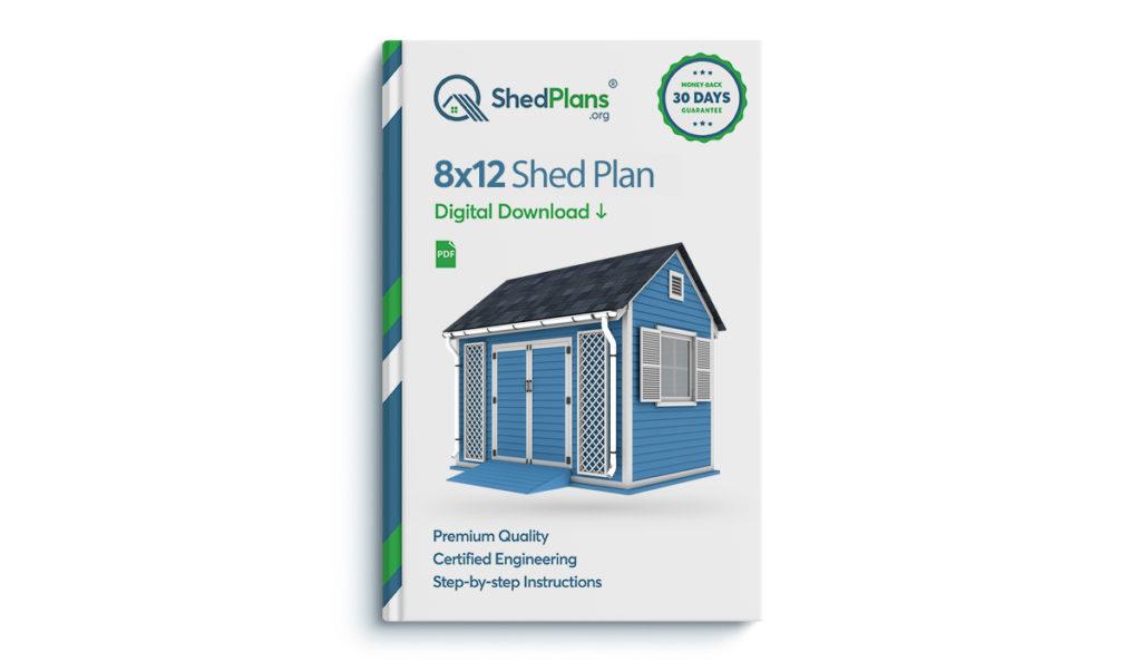 8x12 garden shed plan