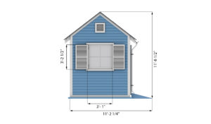 8x12 garden shed side preview