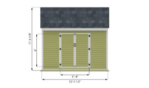 8x12 storage shed front side preview