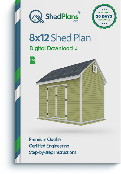 8x12 storage shed plan