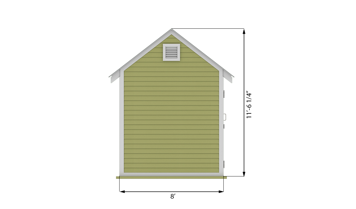 8x12 storage shed side preview