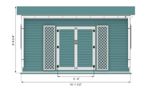8x16 garden shed front side preview