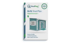 8x16 garden shed plan