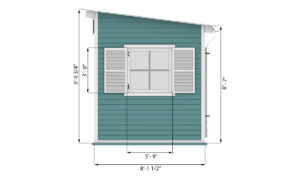 8x16 garden shed side preview