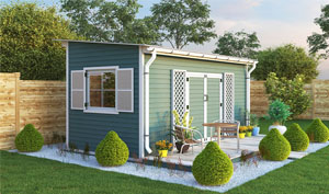 8x16 lean-to garden shed plans