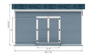 8x16 storage shed front side preview