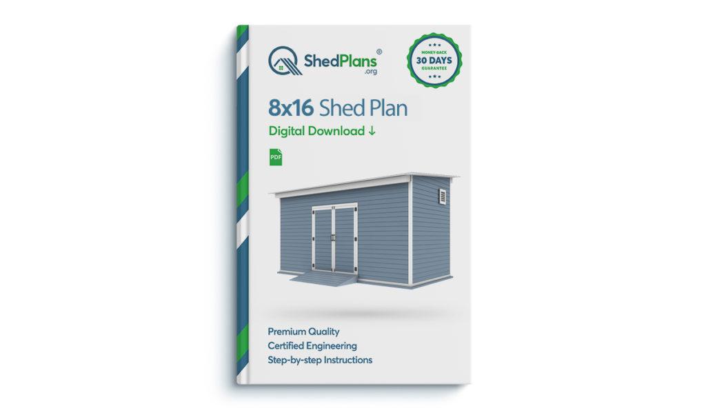 8x16 storage shed plan