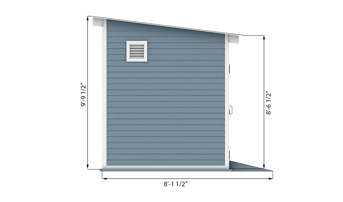 8x16 storage shed side preview