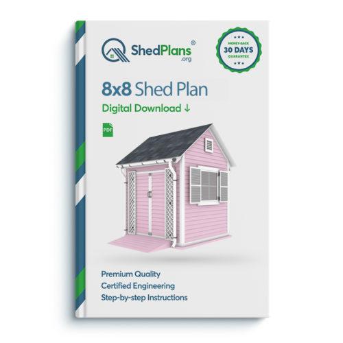 8x8 garden shed plan