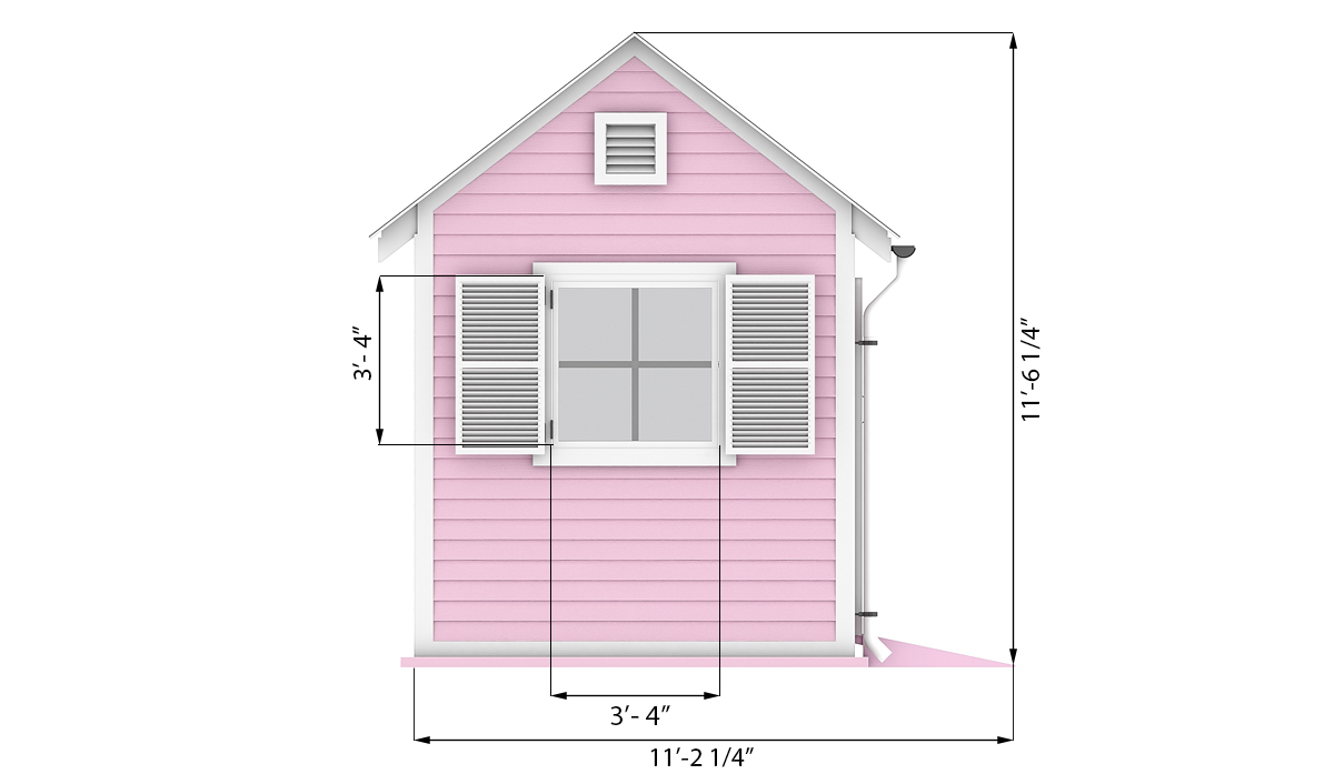8x8 garden shed side preview