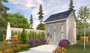 8x8 gable storage shed plans