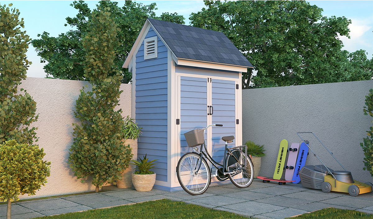 4x6 bike shed preview