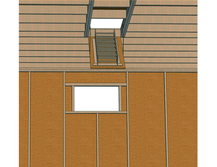 shed fold down staircase