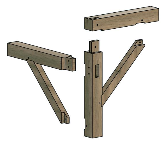 post and beam wall framing