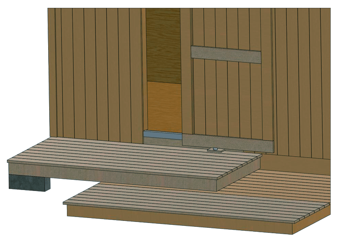 shed entry deck
