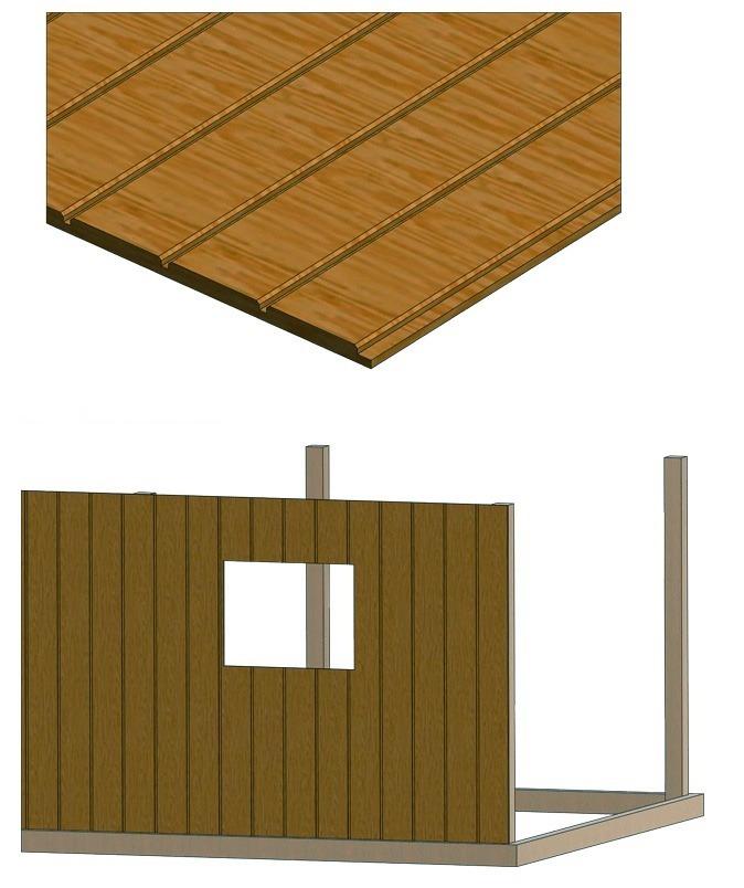 shed plywood siding