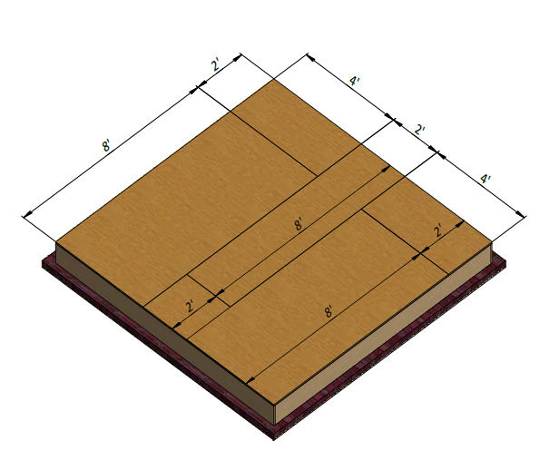 shed floor plywood installation