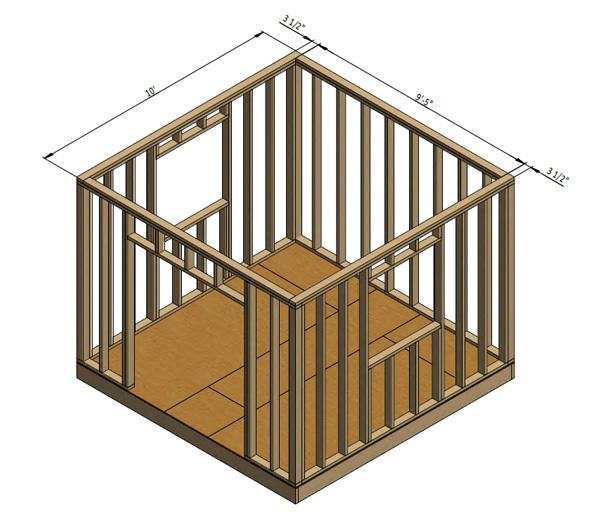 framing shed wall