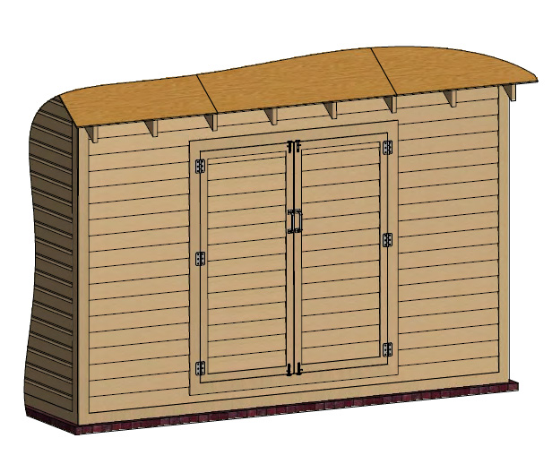 install the shed's door