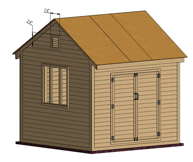 install shed roof ventilation