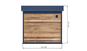 10x10 office shed back side preview