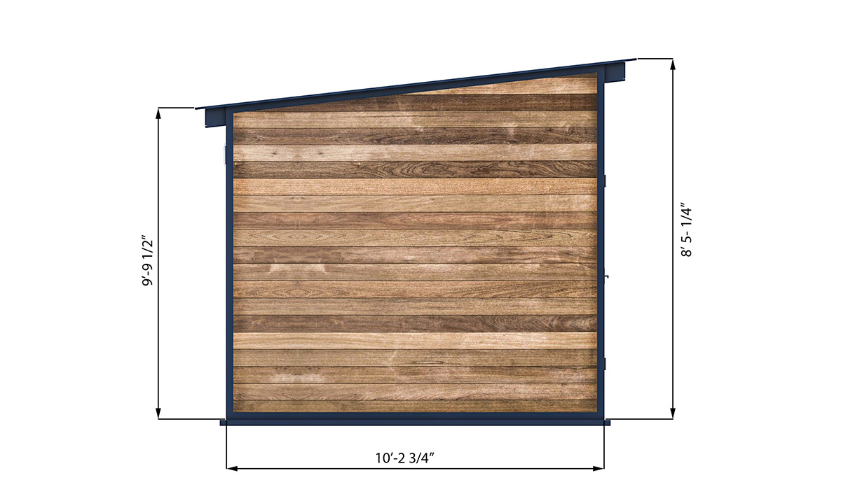 10x10 office shed left side preview