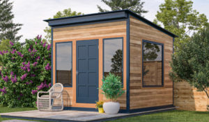 10x10 office shed in the backyard
