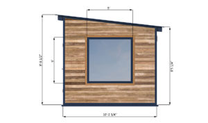 10x10 office shed right side preview