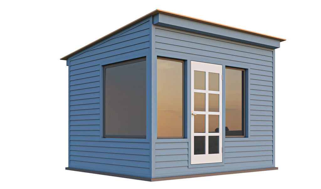 10x12 lean to office shed