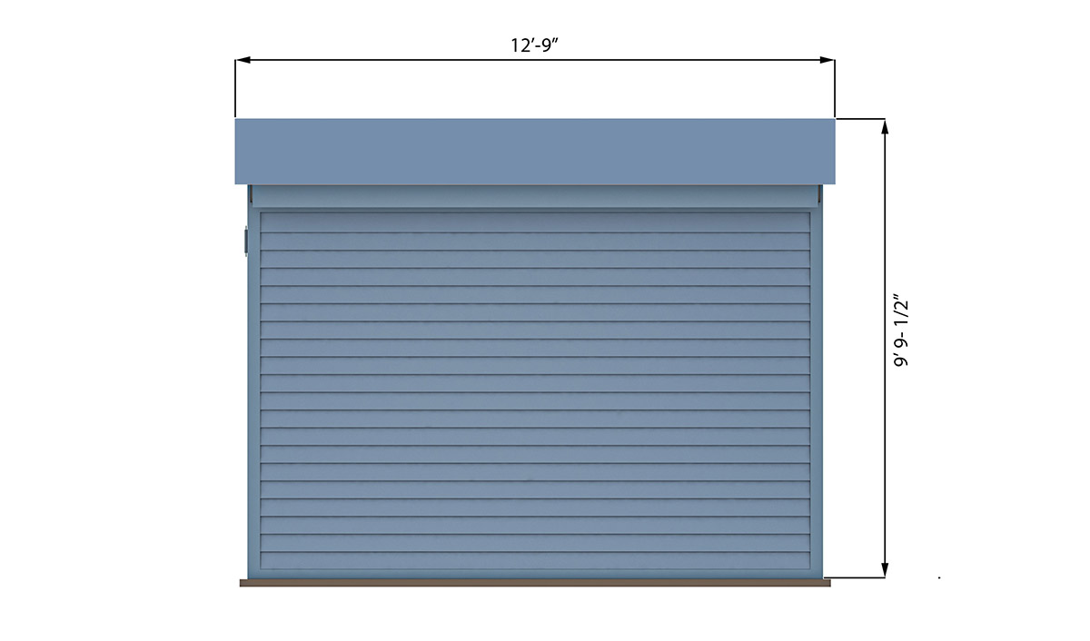 10x12 lean to office shed back side preview