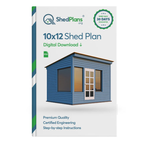 10x12 lean to office shed plan