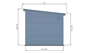 10x12 lean to office shed right side preview